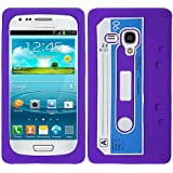 Purple Cassette Tape Silicon Soft Rubber Skin Case Cover For Samsung Galaxy i8190 S 3 S3 III Mini with Free Pouch