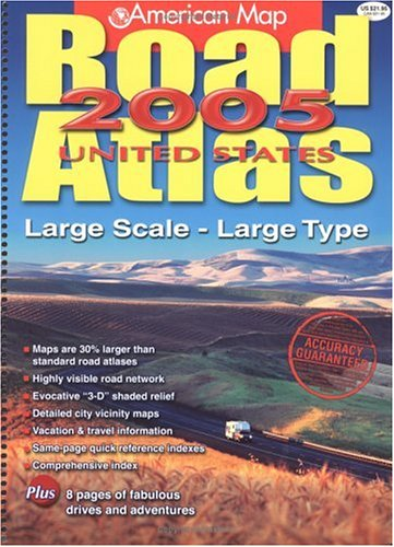 American Map Road Atlas United States Large Scale Large Type - Us road atlas map