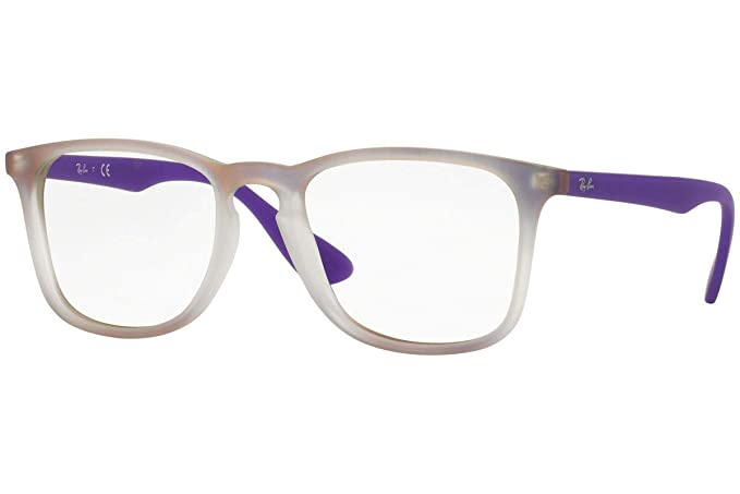 7909e45104 Ray Ban RX7074 Eyeglasses 50-18-145 Violet Gradient Rubber White 5600 RB  7074