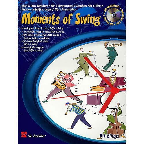 Moments of Swing (10 Original Songs in Jazz, Latin Swing) De Haske Play-Along Book Series by Rik Elings Pack of ()