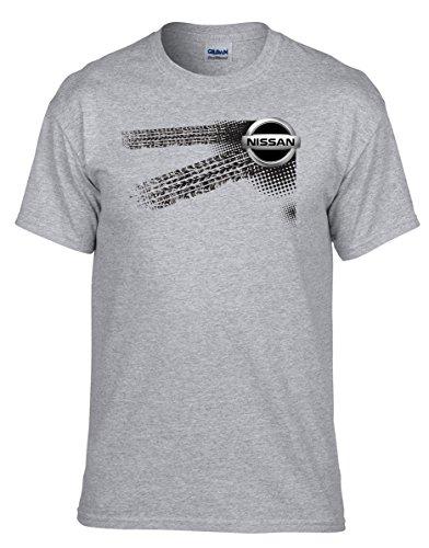 NISSAN - Auto Logo car Grau Fun T-Shirt -020 -Grau