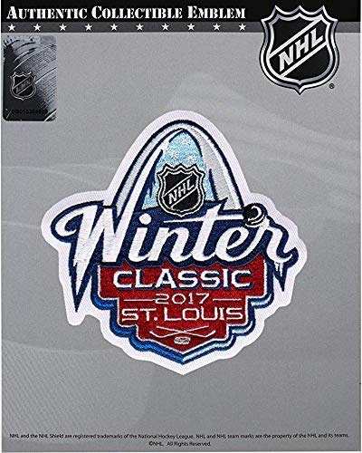 National Emblem 2017 NHL Winter Classic Official Jersey Patch St. Louis Blues Chicago Blackhawks ...