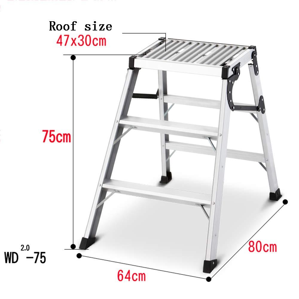 ZR 折り畳み梯子, ライトデューティ2-3トレッドステップラダー - 小さな収納スペースが必要です。 リーチする場所が難しい人には完璧です アウトドア伸縮はしご (サイズ さいず : 3 steps) B07L3718C1  3 steps