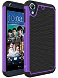 HTC Desire 626 / 626s Case, LK [Shockproof] Hybrid Dual Layer Armor Defender Protective Case Cover for HTC Desire 626 / 626s (Purple)