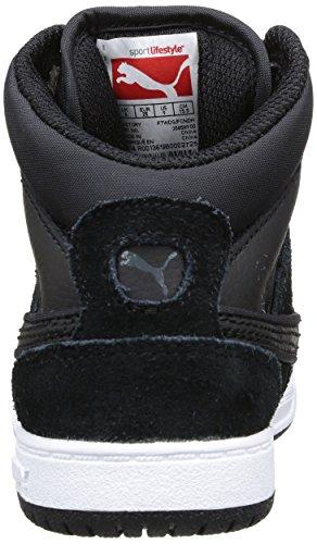 Puma Rebound Street 358589/01 - Zapatillas de deporte de cuero para niño negro - Noir (Black/Black/Dark Shadow)