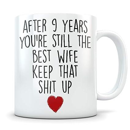 Amazon Com 9th Anniversary Gift For Women Funny 9 Year Wedding