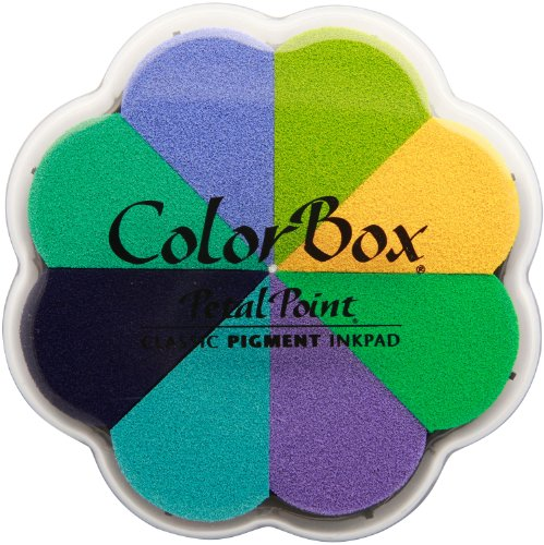 Pigment Ink Pad Spring - CLEARSNAP Colorbox Pigment Petal Point Option Pad, Spring Annuals, 8 Colors Per Pad