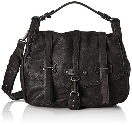 Tamaris Bernadette Satchel Bag - Bolsos maletín Mujer Negro (Black)