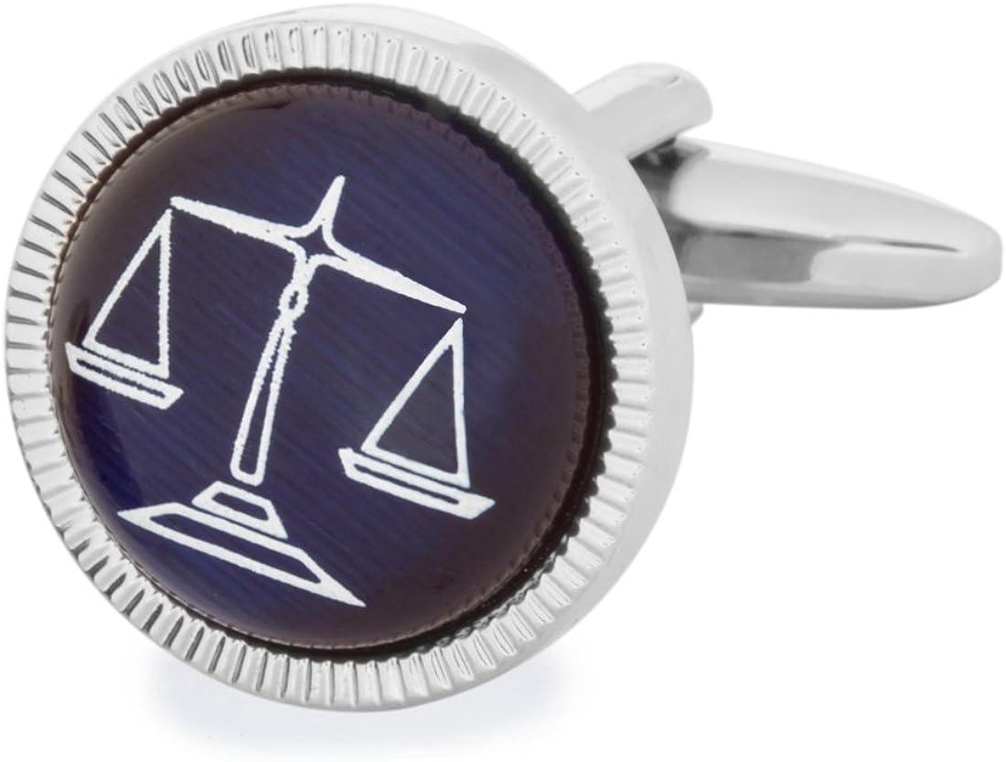 SoloGemelos - Gemelos Balanza Justicia - Azul - Hombres - Talla ...