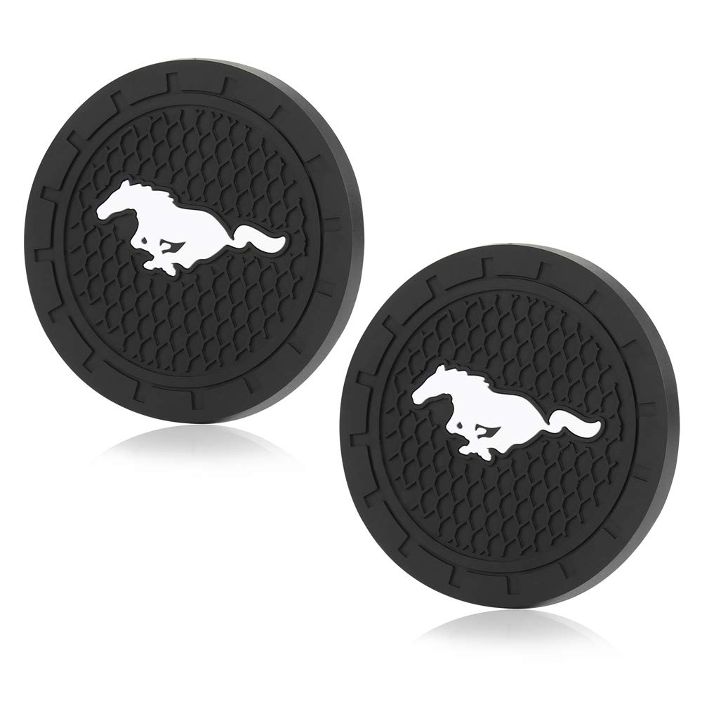 2 Pcs 2.75 inch Car Interior Accessories Anti Slip Cup Mat for Jeep Grand Cherokee Wrangler Compass Cherokee Renegade Patriot Grand Comander Decoration,etc All Models