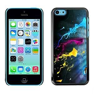 Paccase / SLIM PC / Aliminium Casa Carcasa Funda Case Cover para - Color Splash - Apple Iphone 5C