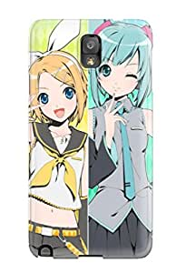 Awesome Defender Tpu Hard Case Cover For Galaxy Note 3- Vocaloid