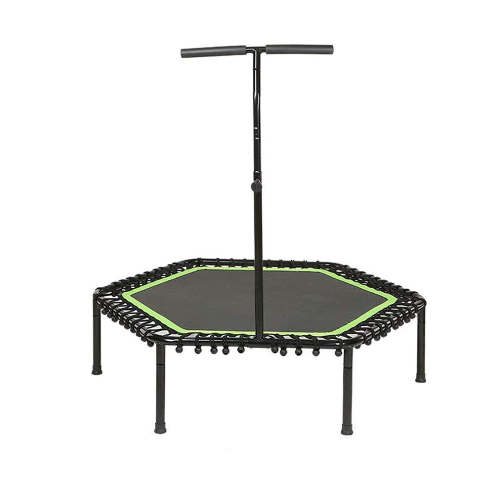 Trampolin mit verstellbarem Handlauf Lenker, Indoor Trampoline für Erwachsene Urban Cardio Workout Home Trainer