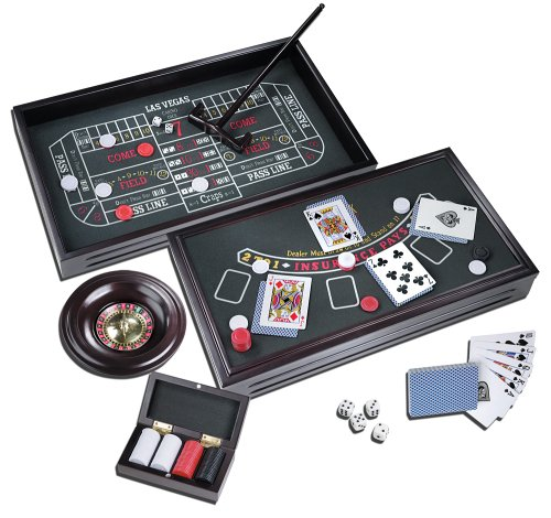 Deluxe Roulette Set - Championship Casino Deluxe Craps, Roulette, and Blackjack Table Gaming Set