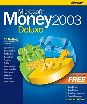 amazon com microsoft money 2003 deluxe old version