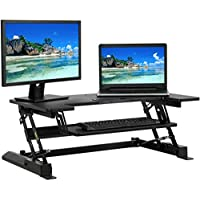 Best Choice Products Height Adjustable Dual Monitor Riser Sit/Stand