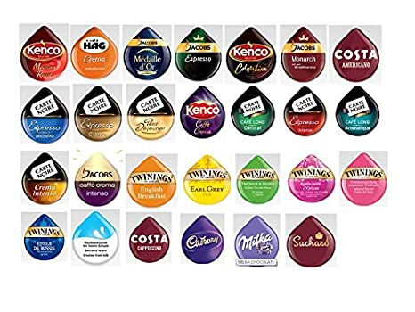 Nieuw Tassimo T Discs (PODS) 'variety' Selection Pack - 27 Drinks / 30 LE-34