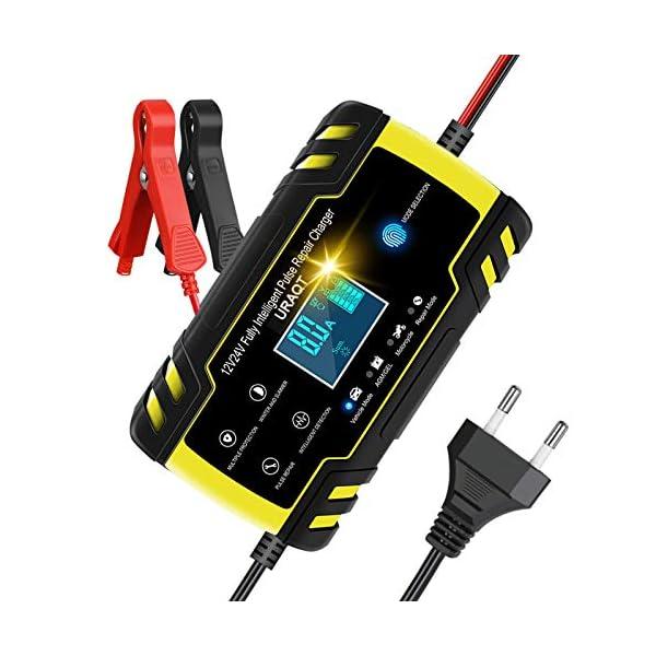 URAQT Autobatterie Ladegerät, Erhaltungsladegerät 8A 12V/24V, Aktualisierung Batterieladegerät Batterie Ladegerät für…
