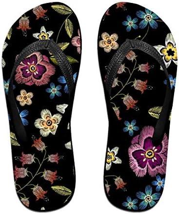ビーチシューズ フルカラーな手描きの花 ビーチサンダル 島ぞうり 夏 サンダル ベランダ 痛くない 滑り止め カジュアル シンプル おしゃれ 柔らかい 軽量 人気 室内履き アウトドア 海 プール リゾート ユニセックス