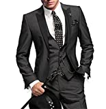 GEORGE BRIDE Slim Fit Mens Suit 3Pc Suit Jacket, Vest,Suit Pants