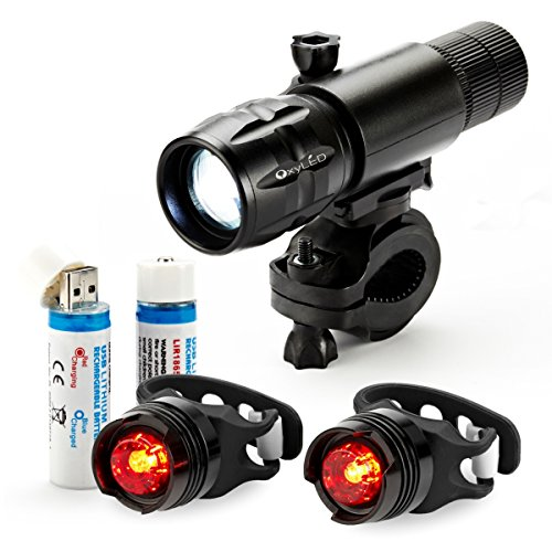 OxyLED Rechargeable Bike Light Bicycle Release