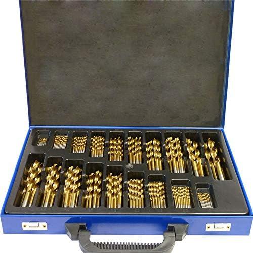 Juego de brocas de metal UISEBRT, 1-10 mm, DIN338, HSS, cobalto, para madera, juego de brocas en espiral para todos los taladros habituales