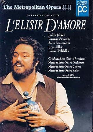 Amazon.com: Donizetti - L'Elisir d'Amore / Rescigno, Pavarotti ...
