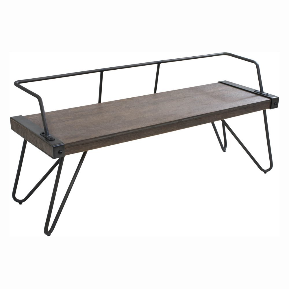 Amazon.com: WOYBR DC STFBEN WL+AN Wood, Metal Stefani Bench: Kitchen U0026  Dining