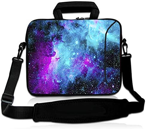 RICHEN 14 15 15.4 15.6 inch Laptop Shoulder Bag Messenger Bag Case Notebook Handle Sleeve Neoprene Soft Carring Tablet Travel Case with Accessories Pocket 14-15.6 inch, Galaxy