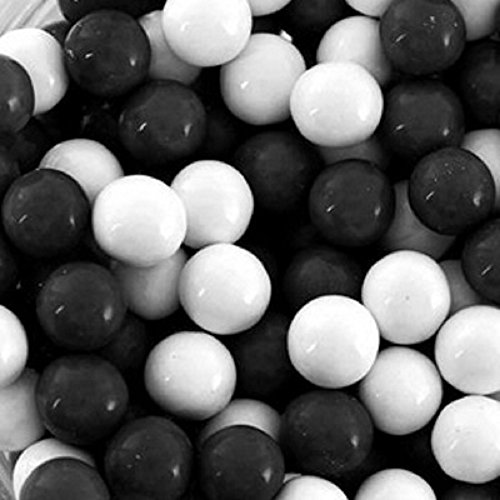 Mini Chocolate Balls (Black & White Sixlets Mini Milk Chocolate Balls 1LB Bag)