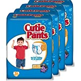 Cuties Training Pants, Boy, White/Blue, 26 Count (Pack of 4)