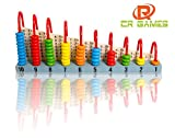 WOODEN ABACUS FOR KIDS MATH - BUILD CONFIDENCE WITH NUMBERS - LEARN VISUALLY & HANDS ON - 55 BEADS FOR COUNTING
