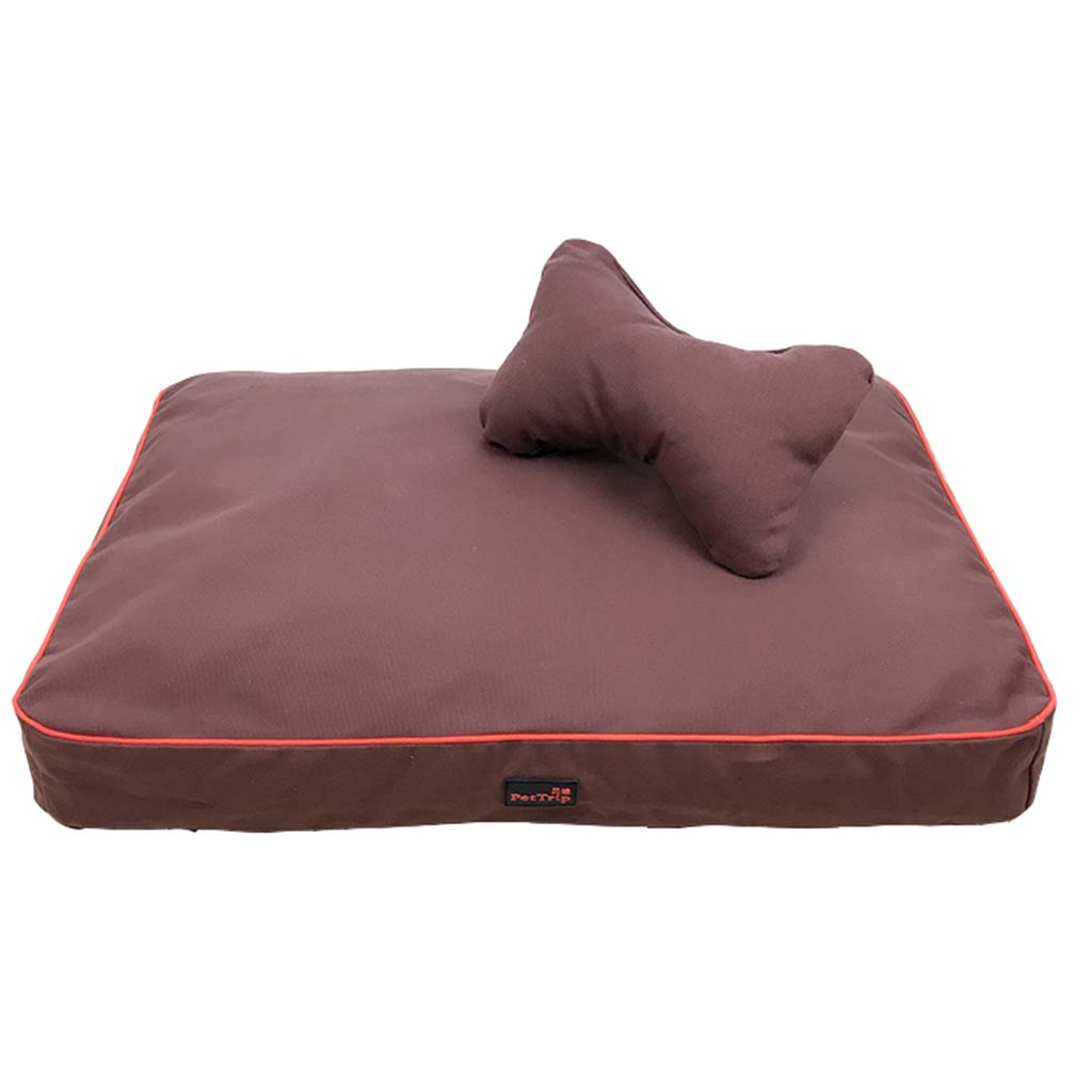 Brown 65×50CMAIDELAI Pet Mat, Large Dog Kennel Cat House Removable And Washable Pet Nest Wearresistant Bite Pet Bed (color   Beige, Size   85×60cm)