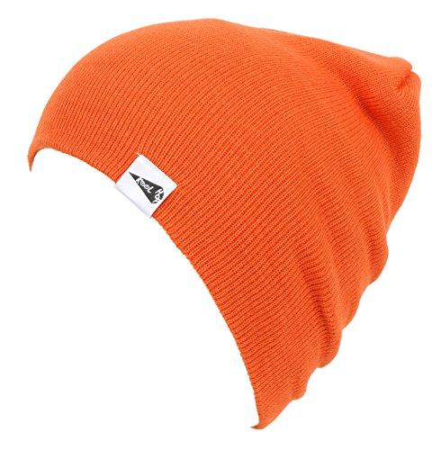 KooL Hop Kids Boys Girls Baby 100% Pure Cotton Knit Basic Beanie Hat Cap Orange