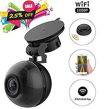 pemenol WiFi Dash Cam FHD 1080p Mini salpicadero cámara 140 ° gran angular coche DVR con