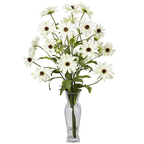 Nearly Natural Cosmos w/Vase Silk Flower Arrangement