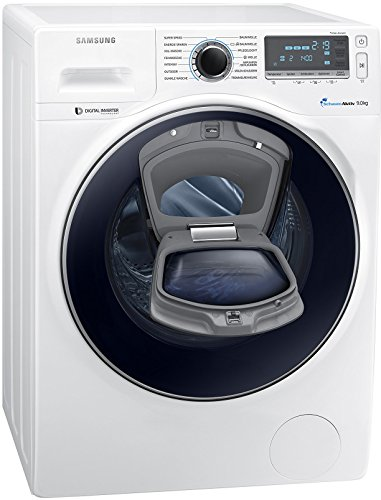 Samsung WW90K7405OW/EG Waschmaschine FL / A+++ / 151 kWh / Jahr / 1400 UpM / 9 kg / Add Wash / WiFi Smart Control / Super Speed Wash / Digital Inverter Motor / weiß