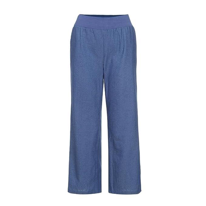 973761270c1d UFACE Women s Wide Leg Denim Hosen beiläufige Hohe Taille Elastizität Denim  breites Bein Palazzo Hosen Jeans