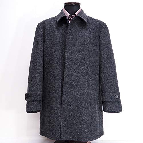 40787 秋冬 日本製 ステンカラー ハーフコート グレー(灰色) サイズ M LONNER/LEOLUIS ロンナー 紳士服 メンズ 男性用