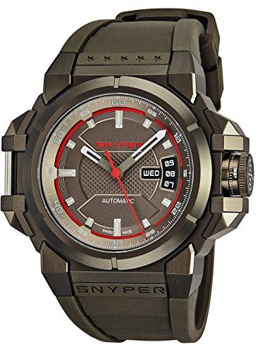 Snyper Reloj de Hombre automático 43mm Correa de Goma Caja de Acero 20.300.00: Snyper: Amazon.es: Relojes