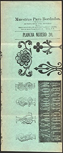 1909 Photo Muestras para bordados, plancha número 30 Print shows embroidery patterns for elaborate letters (