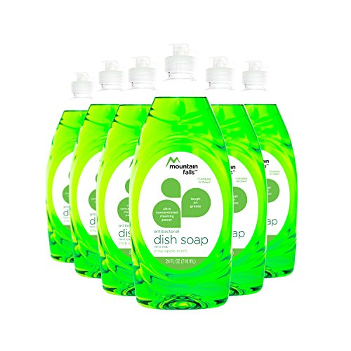 Mountain Falls Ultra Concentrated Dish Soap and Antibacterial Handsoap, Crisp Apple, Compare to Dawn, 24 Fluid Ounce (Pack of 6)