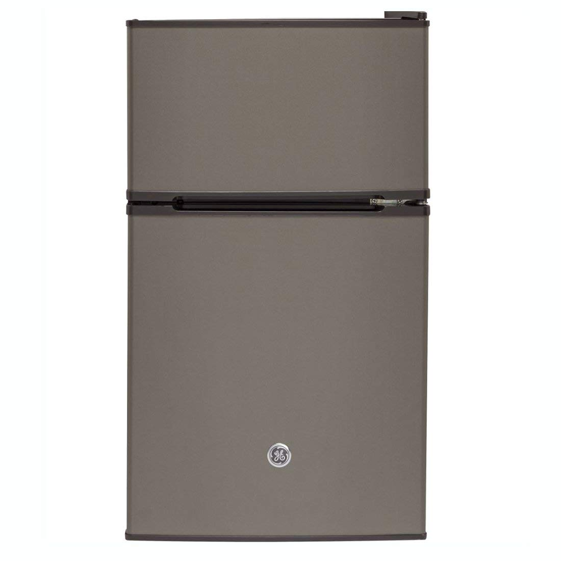 GE Appliances 3.1 Cubic Foot Freestanding Double Door Compact Refrigerator, Slate