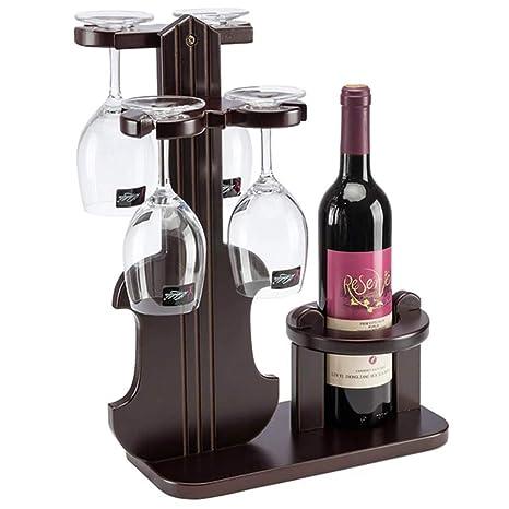 Portavasos Estante para Vinos Set Violín De Madera Estante para Vinos Creativo 4 Copas De Vino