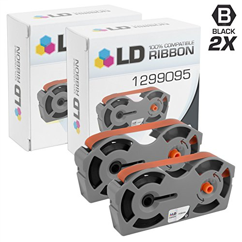LD Compatible IBM 1299095 Set of 2 Black Printer Ribbon Cartridges by LD Products