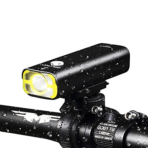 GACIRON Portable USB Rechargeable Waterproof Bike Handlebar Light, 3 Lighting Modes LED Cycling Light Torch Headlight For Mountain Road, Kids and City Bicycle -  Huiyize, LM04401
