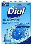 Dial Antibacterial Deodorant Bar Soap, Spring Water, 4-Ounce Bars, 10 Count (Pack of 3)