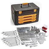 GEARWRENCH 243 Pc. 12 Point Mechanics Tool Set in 3 Drawer Storage Box - 80972