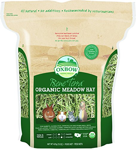 Oxbow BeneTerra Organic Meadow Hay, 15-Ounce Bag (Organic Orchard Grass)