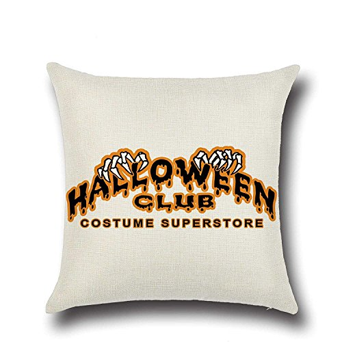 SPXUBZ Halloween Club Costume Superstore Quotes Back Flax Throw Pillow Cover Home Decor Nice Gift Square Indoor Linen Pillowcase Standar Size:26x26 in (Two Sides)